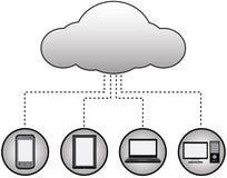 Beräknande begrepp för moln Arkivbilder