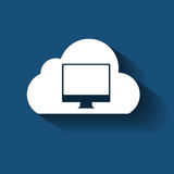 Beräknande begrepp för moln på olikt elektroniskt Royaltyfria Bilder