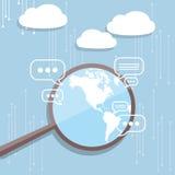 Beräknande internetbegrepp för moln vektor illustrationer