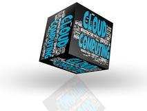 Beräknande molnbegrepp Arkivfoton