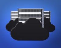 Beräknande serveror för oklarhet Arkivbilder