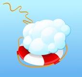 Beräknande servicehjälp för moln vektor illustrationer