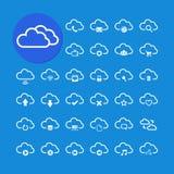 Beräknande symbolsuppsättning för moln, vektor eps10 Arkivbilder