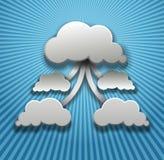 Beräknande vektorbakgrund för moln Fotografering för Bildbyråer