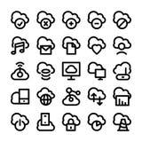 Beräknande vektorsymboler 1 för moln stock illustrationer