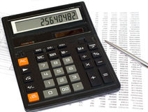 beräkningsskatt arkivbild
