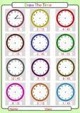 Berätta tiden, vad är tiden, stock illustrationer