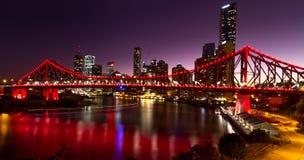 Berättelsebro - Brisbane Arkivbild