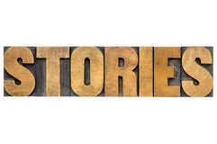 Berättelser uttrycker i wood typ för boktryck Royaltyfria Bilder