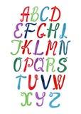 Berçário colorido do alfabeto do vetor isolado no fundo branco ilustração do vetor