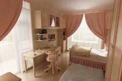 Berçário cor-de-rosa Fotografia de Stock Royalty Free