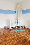 Berçário do bebê com cama Imagem de Stock Royalty Free