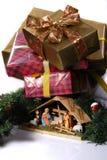 Berçário para o Natal Fotos de Stock Royalty Free