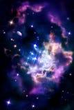 Berçários estelares - nuvem molecular em que o processo de estrela ilustração stock