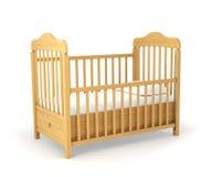 Berço de bebê isolado abaixo fotos de stock royalty free