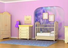 Berço de bebê na sala Imagens de Stock