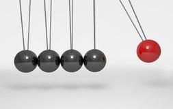 Berço de equilíbrio do ` s de Newton das bolas 3d rendem Imagens de Stock