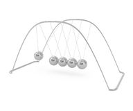 Berço de Newton de equilíbrio das esferas Imagem de Stock