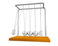 Berço de Newton de equilíbrio das esferas Imagens de Stock