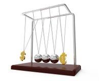 Berço de Newton de equilíbrio das esferas Foto de Stock