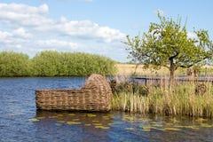 Berço gigante em Kinderdijk, Holanda Imagens de Stock Royalty Free