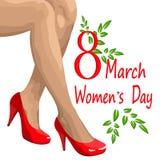 Beröm av dagen för kvinna` s Royaltyfri Foto