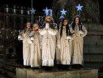 Beröm av dagen för St Lucys i Malmo, Sverige på December 13, 2015 Royaltyfri Fotografi