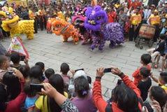 Beröm av det kinesiska nya året i den Semarang staden Fotografering för Bildbyråer