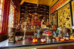 Beröm av det kinesiska nya året i templet Saphan Hin Fotografering för Bildbyråer