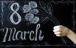 Beröm av mars 8 Arkivfoto