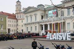 Beröm av självständigheten av Litauen Arkivbild