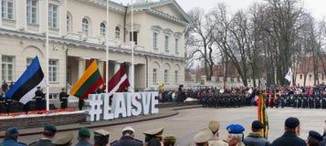 Beröm av självständigheten av Litauen Arkivbilder