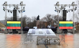 Beröm av självständigheten av Litauen, Royaltyfria Bilder