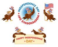 Beröm av självständighetsdagen fjärde juli Royaltyfri Fotografi