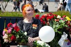 Beröm av Victory Day på Maj 9 Fotografering för Bildbyråer