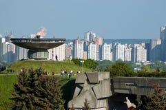 Beröm av Victory Day under den eviga flamman Arkivbild
