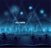 Beröm för bakgrund för Hollywood filmpremiär Arkivbild