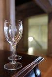 Beröm för bordsservis för korridor för bufférestaurangkafé glass Royaltyfria Bilder