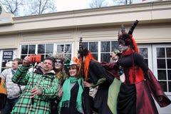 Beröm för dag för St Patrick ` s i Moskva Royaltyfria Bilder