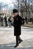 Beröm för dag för St Patrick ` s i Moskva Arkivbild