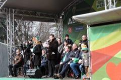 Beröm för dag för St Patrick ` s i Moskva Royaltyfri Foto