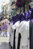 Beröm för helig vecka på Ronda, Malaga, Spanien royaltyfri fotografi