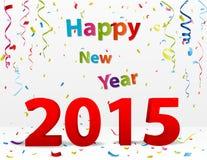 Beröm för lyckligt nytt år med konfettier Arkivbild