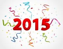 Beröm för lyckligt nytt år med konfettier Arkivfoton