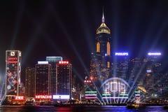 Beröm för nytt år i Hong Kong 2013 Arkivfoto