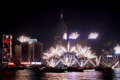Beröm för nytt år i Hong Kong 2013 Arkivbild