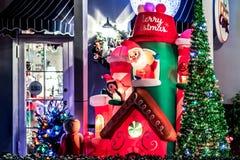 BERÖM FLORIDA, USA - DECEMBER, 2018: Jul dekorerat yttre hus på berömstaden arkivbild