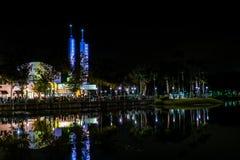 BERÖM FLORIDA, USA - DECEMBER, 2018: Jul på berömstaden Härlig sikt med sjöreflexioner royaltyfria bilder