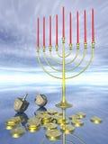 beröm hanukkah stock illustrationer