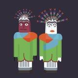 Beröm indonesia för betawi för Ondel-ondel jakarta docka traditionell vektor illustrationer